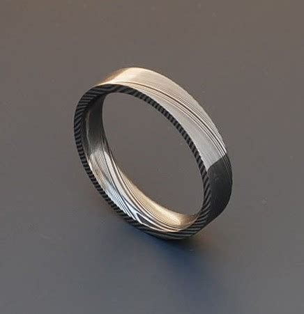 stainless steel damascus genuine stainless damascus steel ring pd25