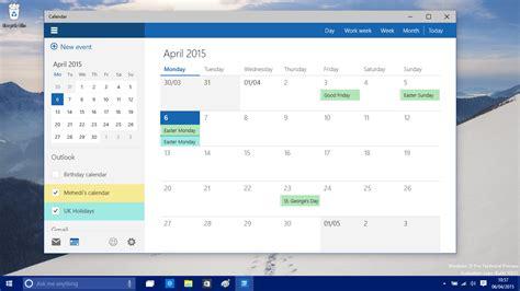 Windows Calendar خبر نگاهی نزدیک به نرم افزار جدید تقویم در بیلد 10051