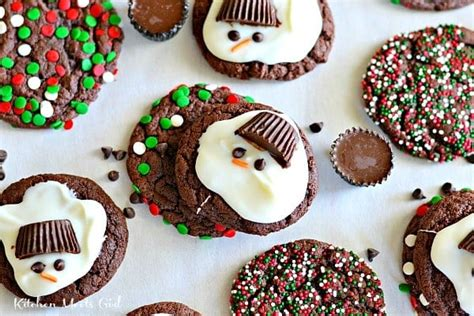 reese s capped snowmen cookies kitchen meets girl