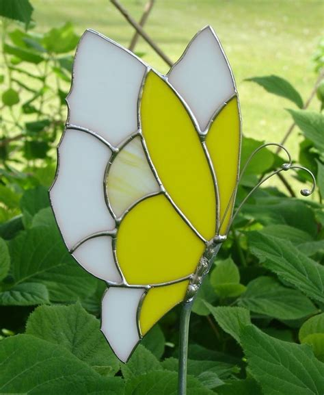 projects butterfly garden stake 70 best images about fused glass garden stakes on