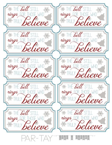 printable believe tags polar express bell tags party like a cherry