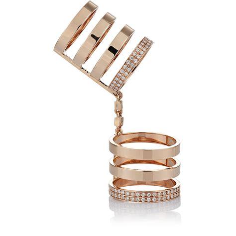repossi s seven band berbere cage ring in metallic
