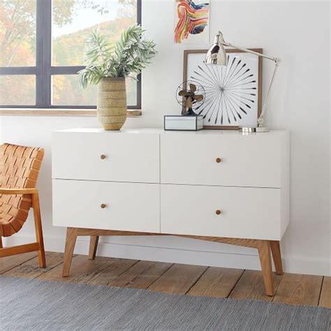 west elm modern white dresser tall storage 4 drawer dresser white west elm