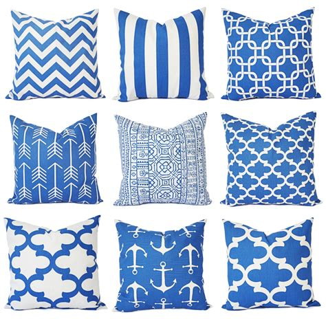Decorative Throw Pillows Royal Blue Royal Blue Pillow Covers Blue Throw Pillows By