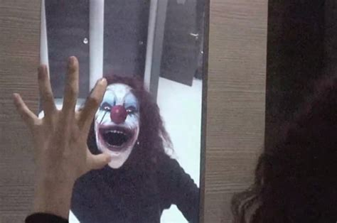 bathroom mirror prank best halloween prank ever watch as cinema goers freak