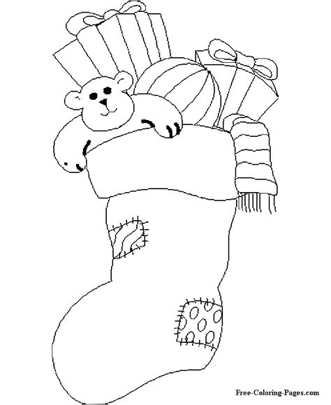 coloring page for christmas stocking christmas stocking coloring pages coloring home
