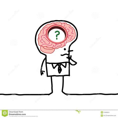 Big Brain Man Memory Desorders Stock Vector Image Big Brain Pricing