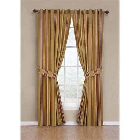 waverly curtains outlet shop waverly torino stripe 84 in l striped saffron back