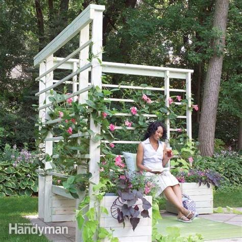 Arbor With Planters by How To Build An Arbor With Built In Benches The Family