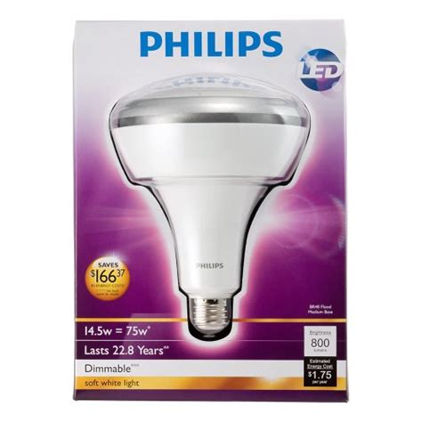Lu Led Philips 40 Watt philips 423756 14 5 watt 75 watt br40 led indoor flood