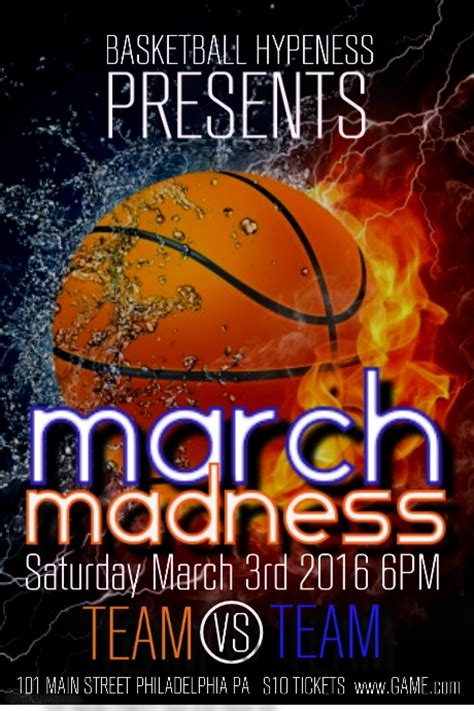 March Madness Flyers Design Studio Madness Flyer Template