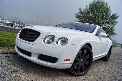 Bentley Continental Matte White Wrap Black Powder Coated