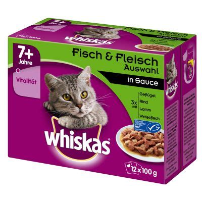 whiskas 7 sachets fra 238 cheur 12x100g pour chat zooplus