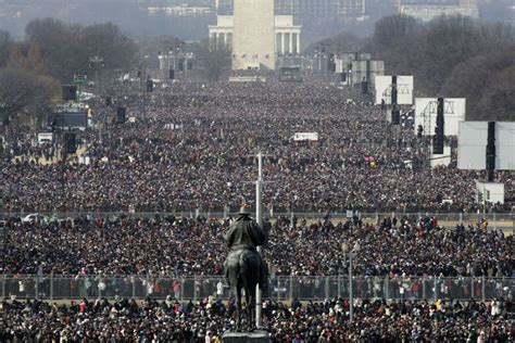 picture of inauguration crowd crowds fill the national mall ahead of the inauguration of