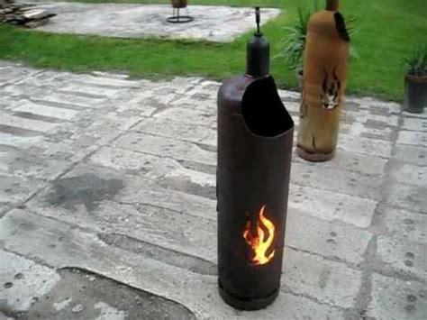 werkstattofen selber bauen anleitung feuertonne flammendesign 33kg gasflasche terrassenfeuer