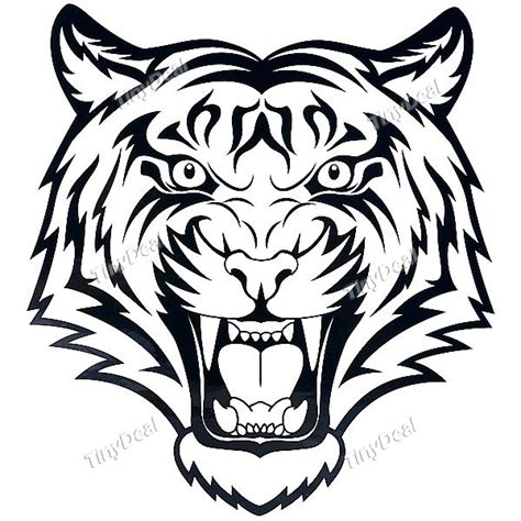 printable tattoo stickers waterproof tiger head pattern tattoo stickers http