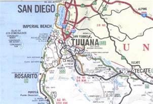 area map for tijuana a border city of baja mexico