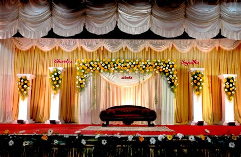 indian wedding stage decoration romantic decoration