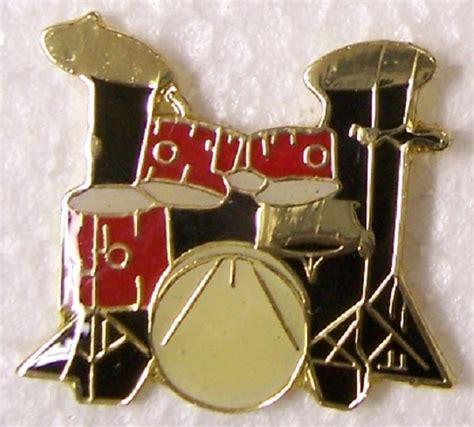trap set music hat lapel pin push tie tac music musical instrument