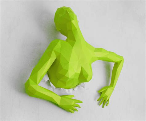 Paper Handcraft - out of this wall papercraft sculpture