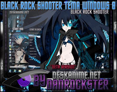 themes for windows 7 rock black rock shooter theme windows 8 by danrockster on
