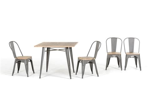 modern jethro grey metal and wood dining chair