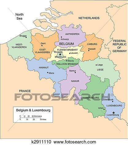 belgium country map clipart of belgium and luxembourg with administrative
