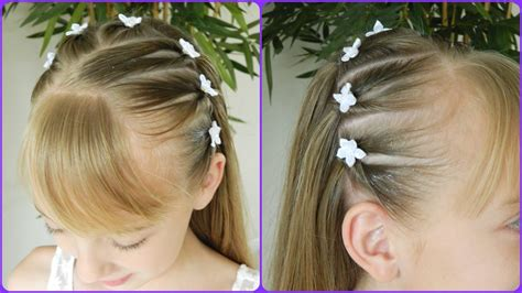 cute hairstyles for first communion first communion hairstyle 1 3 upside down pigtails