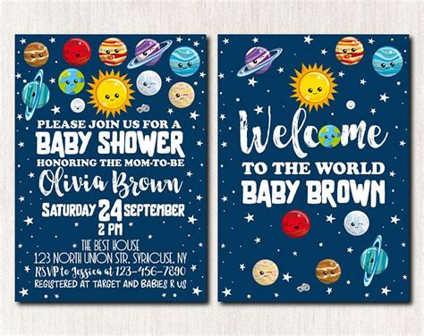 Space Baby Shower Invitations by Space Baby Shower Invitation Outer Space Invitation Moon