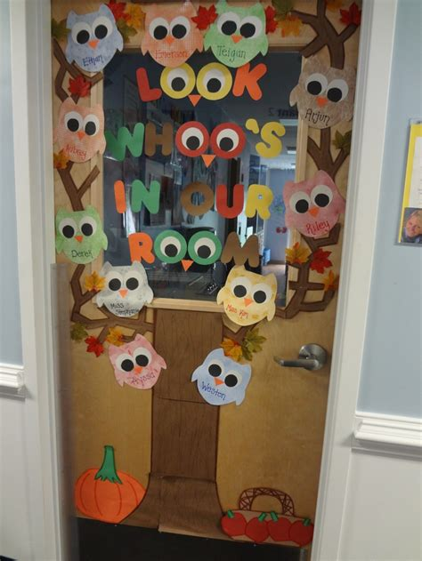 classroom fall door decorations 25 best ideas about owl door decorations on