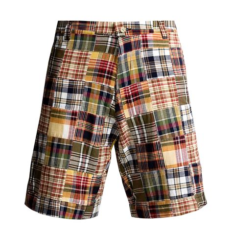 Patchwork Madras Shorts - berle madras shorts for 1950d save 47