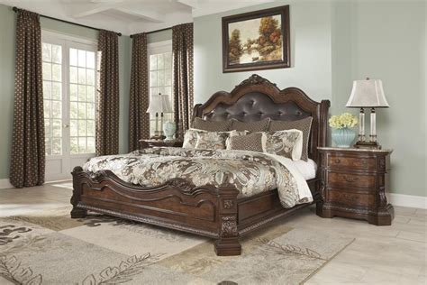 esmeralda sleigh bedroom set ledelle king sleigh bed from millennium by ashley furniture