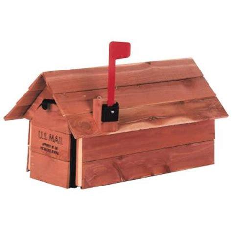 gibraltar mailboxes cedar chalet post mount mailbox
