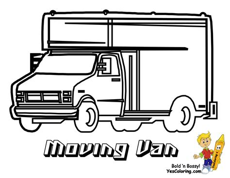 moving van coloring page service transportation coloring police cars fire