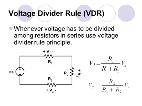 series resistor and voltage division voltage divider resistors in series 28 images basic electrical circuit 1 ppt