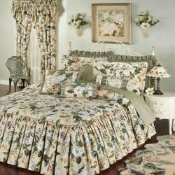 Floral Bedspreads Garden Images Iii Magnolia Floral Ruffled Flounce Bedspread