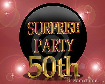 birthday surprise party invitation stock photo