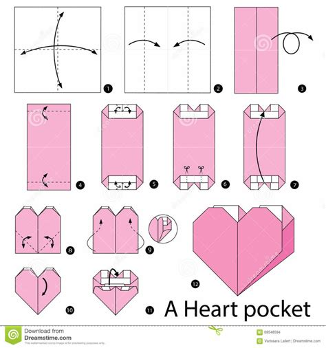printable origami heart instructions origami step by step instructions how to make origami a