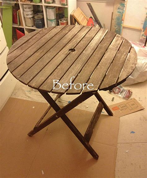 painting wood patio furniture patio table chalk paint makeover hometalk