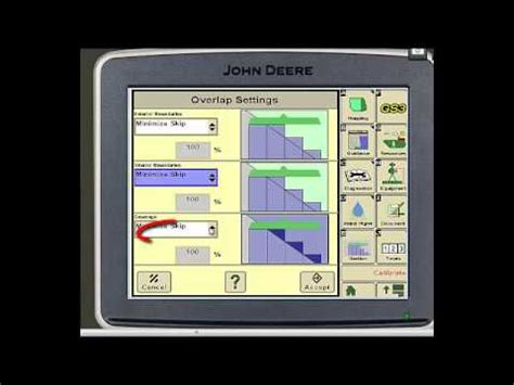 section control jd self propelled sprayer section control settings youtube