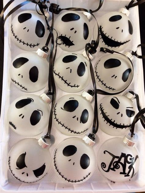 jack skellington ornaments one dozen jack o connell