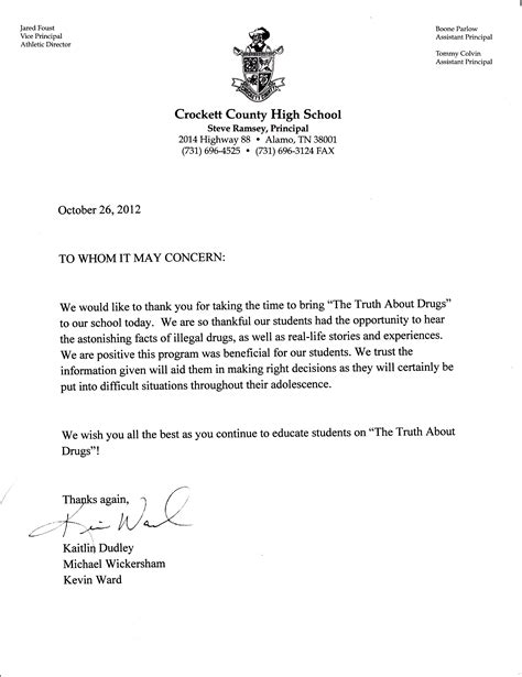 College Letter Of Recommendation Personal crockett archives free tennessee