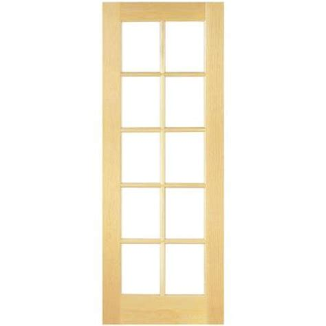 interior french door home depot masonite 30 in x 80 in smooth 10 lite french solid core