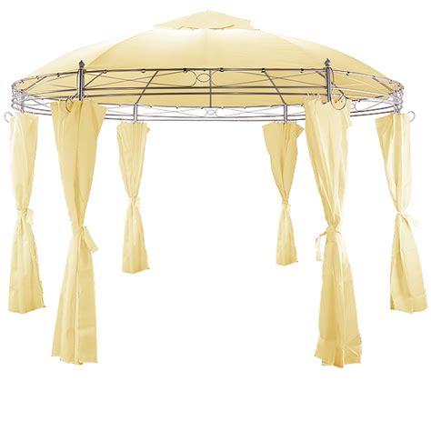 pavillon toscana pavillon toscana 3 5m beige rund gartenpavillonpavillion