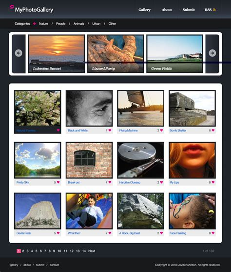 tutorial website gallery photo gallery website layout in photoshop devisefunction