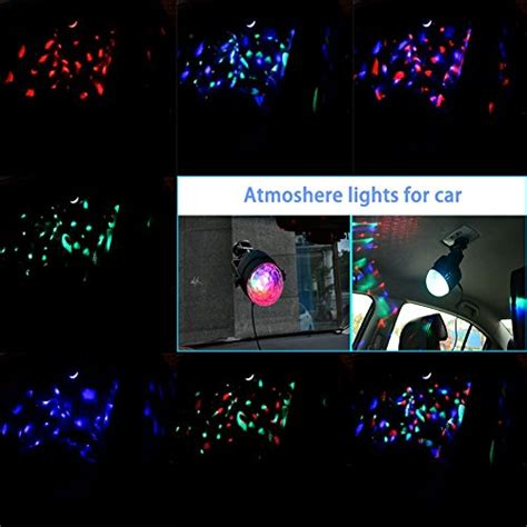 strobe light dance party wowtou rgb led mini disco ball party light show with