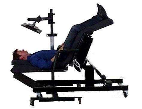 ergonomic lay down desk ergoquest zero gravity chairs and workstations