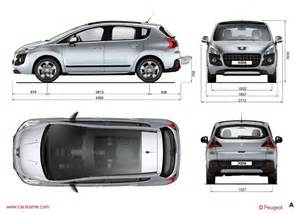Peugeot Dimensions Peugeot 3008 1 2009 2013 Fiche Technique Dimensions