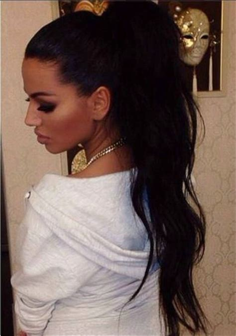 hair pony tail for african hair african american clip in long high black wavy brazilian