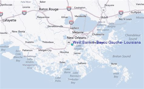 bank of the west locations west bank 1 bayou gauche louisiana tide station location